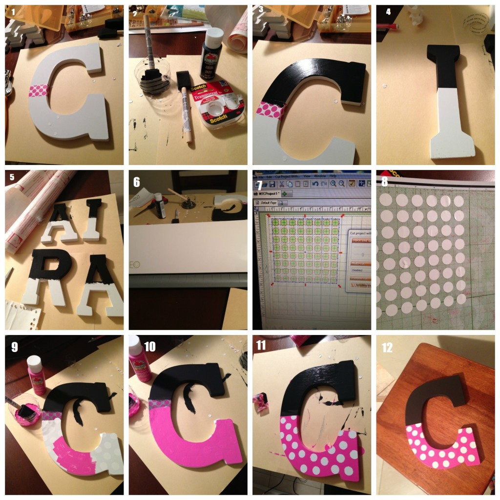 Minnie_wood_letters2 - Wooden Mini Mouse Letters Tutorial by Florida lifestyle blogger Casa Moncada