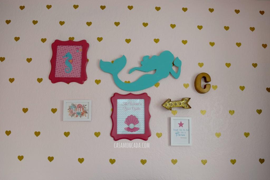 Mermaid girls bedroom