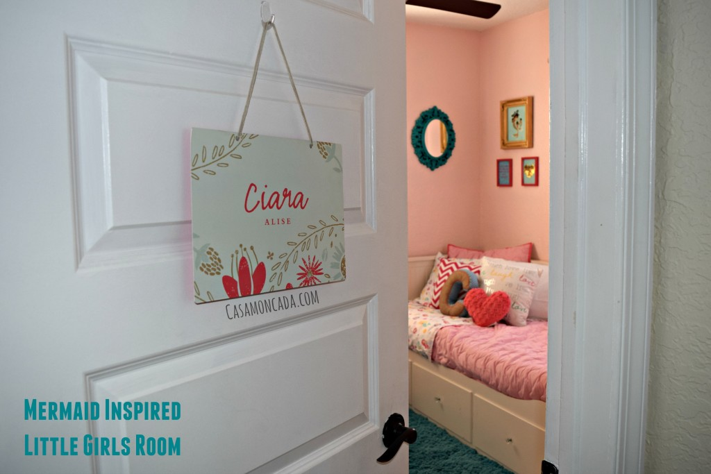 Mermaid inspired little girls room