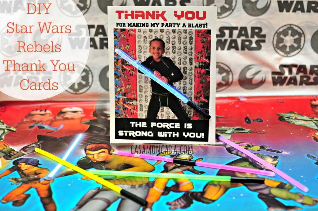 DIY Star Wars Rebels Thank You Cards