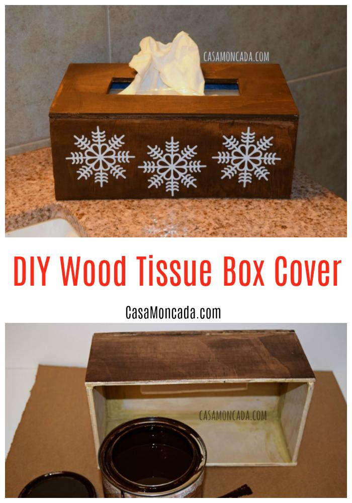 DIY Wood Tissue Box Cover