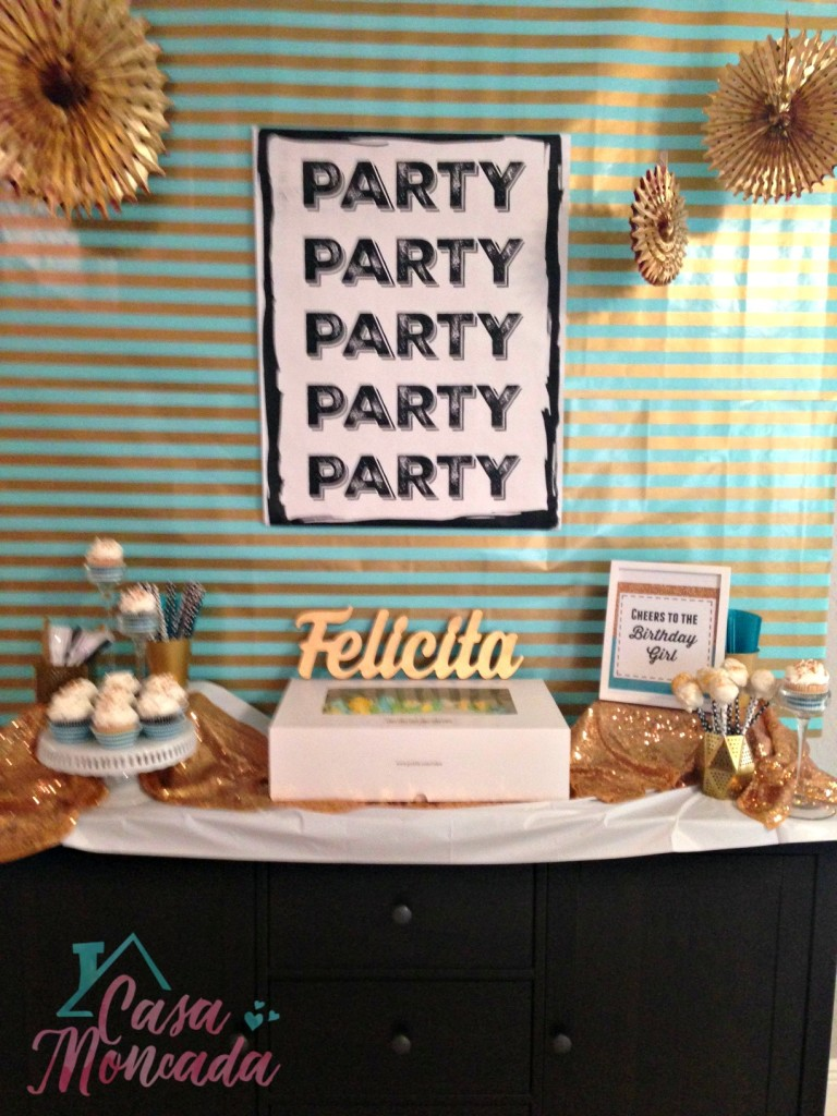 teal and gold party1
