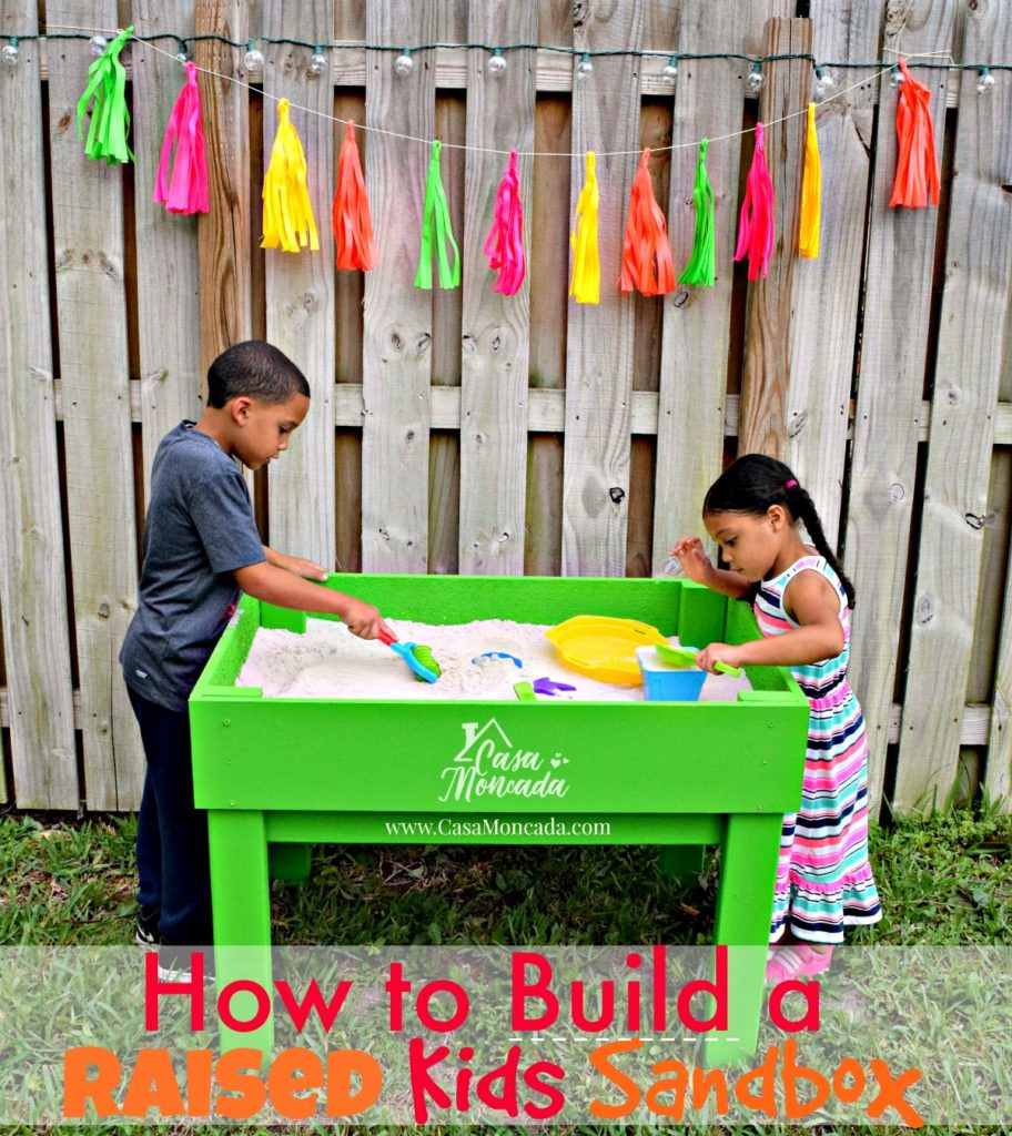 raised sandbox10 - How to Build a Raised Sandbox by Florida lifestyle blogger Casa Moncada