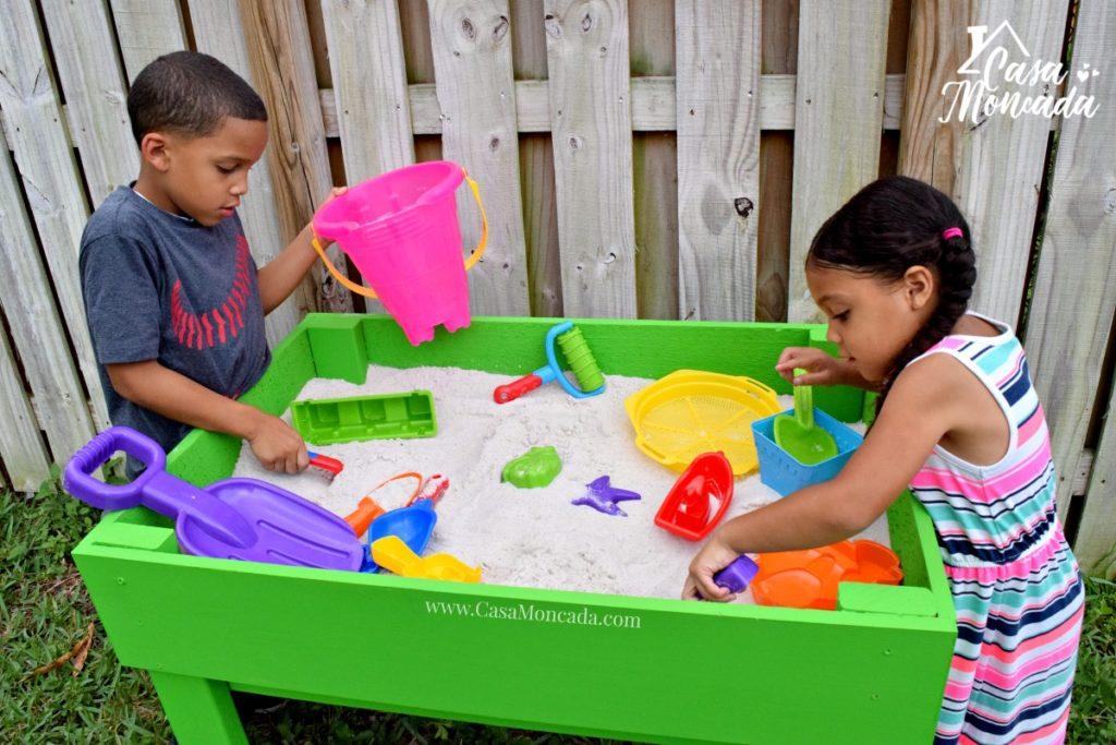 raised sandbox12 - How to Build a Raised Sandbox by Florida lifestyle blogger Casa Moncada