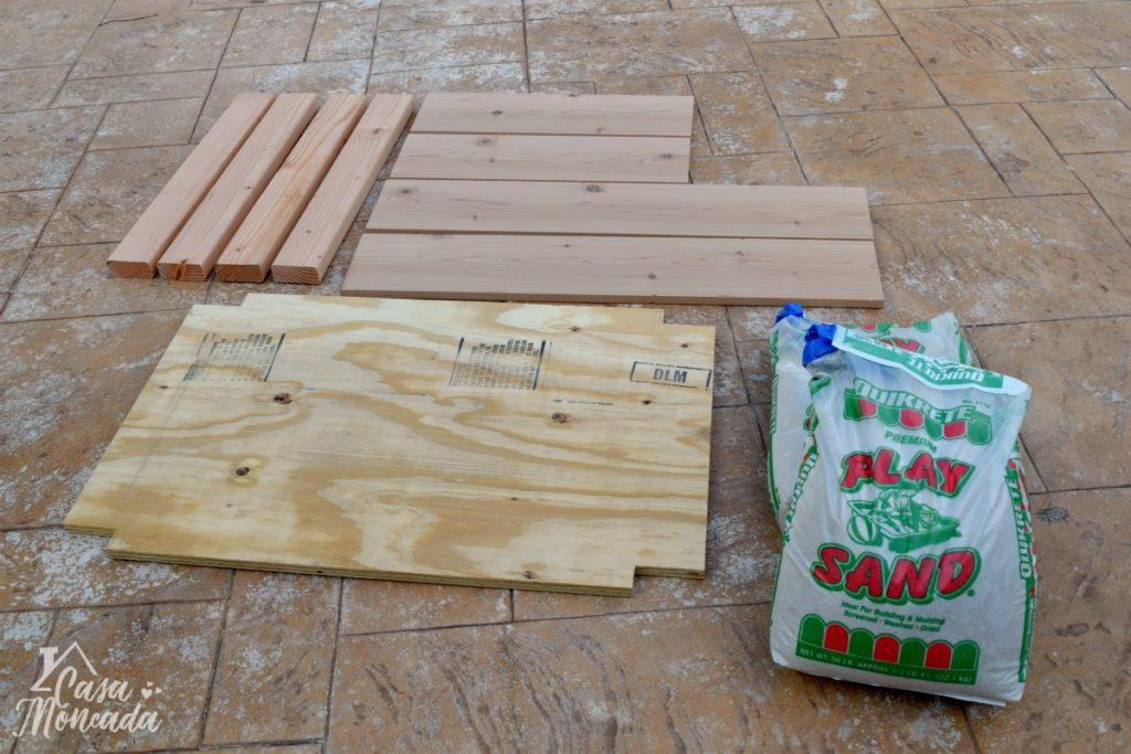 raised sandbox2 - How to Build a Raised Sandbox by Florida lifestyle blogger Casa Moncada