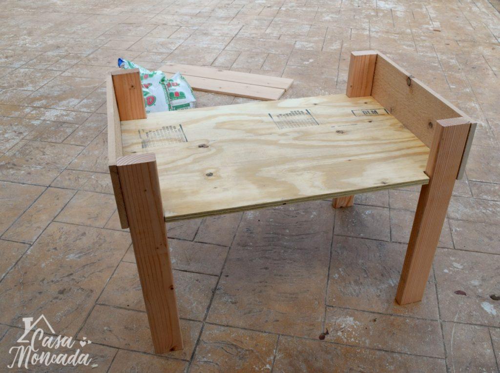 raised sandbox3 - How to Build a Raised Sandbox by Florida lifestyle blogger Casa Moncada