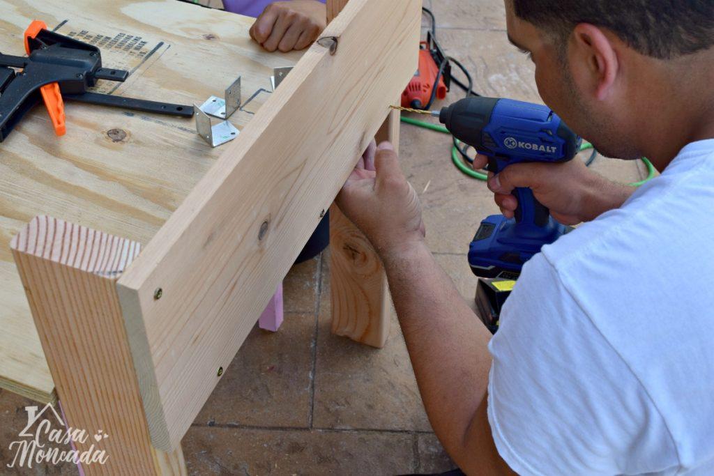 raised sandbox4 - How to Build a Raised Sandbox by Florida lifestyle blogger Casa Moncada
