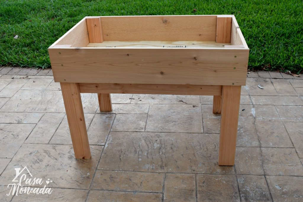 raised sandbox6 - How to Build a Raised Sandbox by Florida lifestyle blogger Casa Moncada