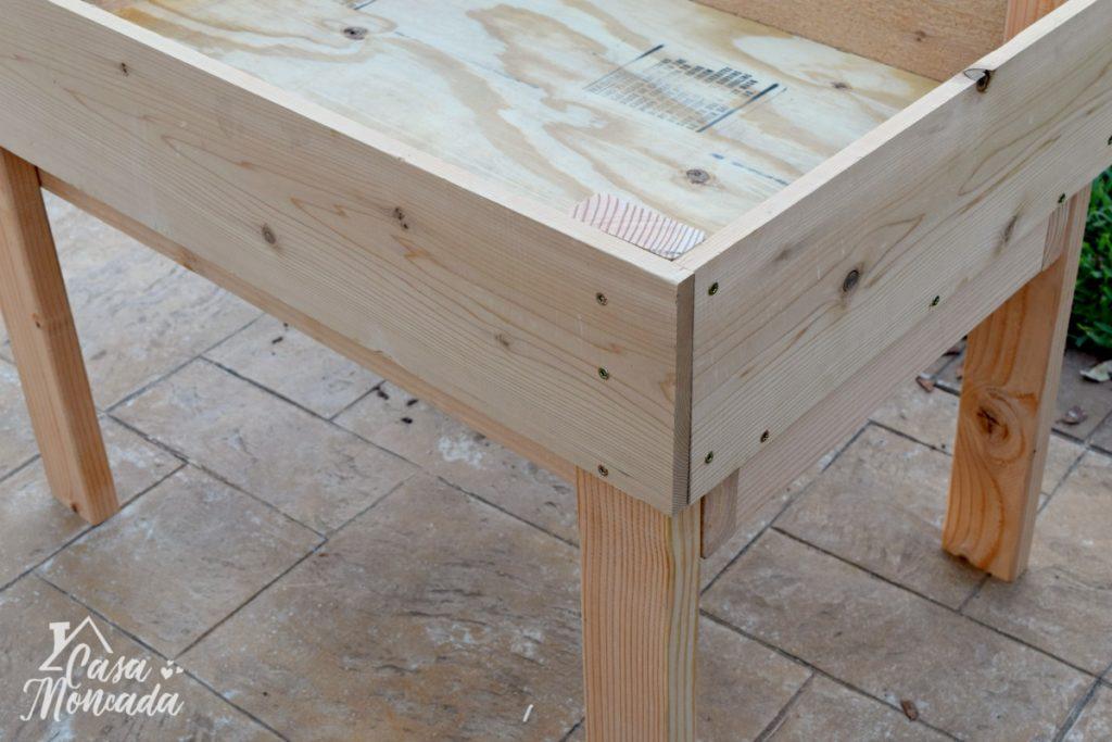 raised sandbox7 - How to Build a Raised Sandbox by Florida lifestyle blogger Casa Moncada