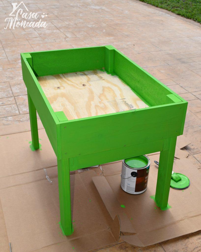raised sandbox8 - How to Build a Raised Sandbox by Florida lifestyle blogger Casa Moncada