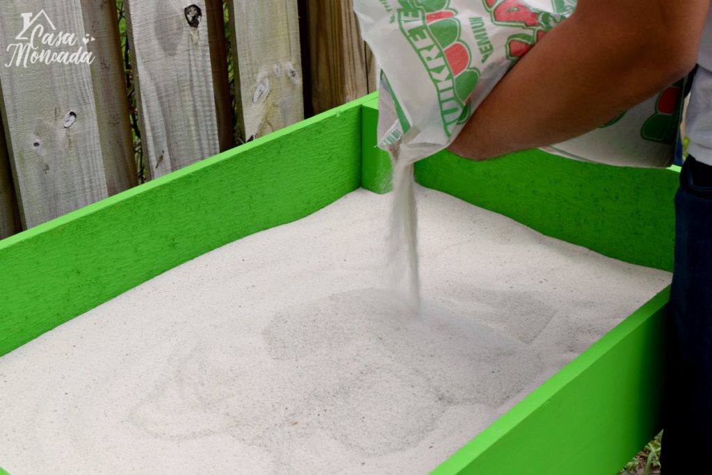 raised sandbox9 - How to Build a Raised Sandbox by Florida lifestyle blogger Casa Moncada