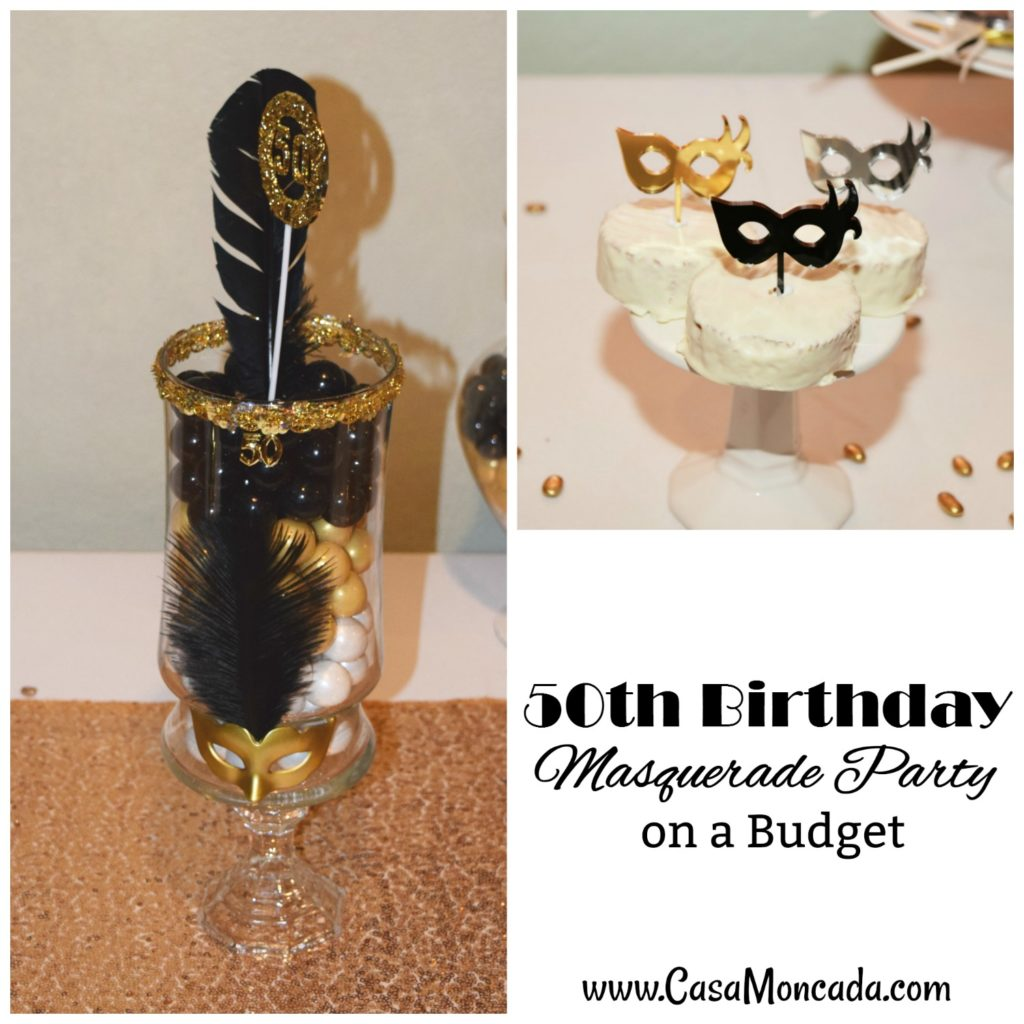 50th birthday masquerade party on a budget post