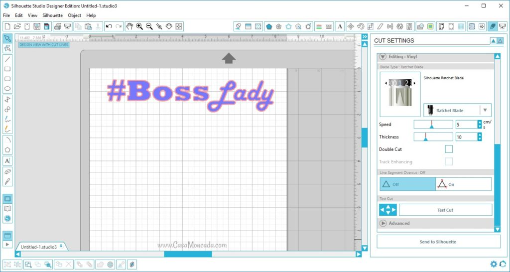 Boss Lady studio cut file