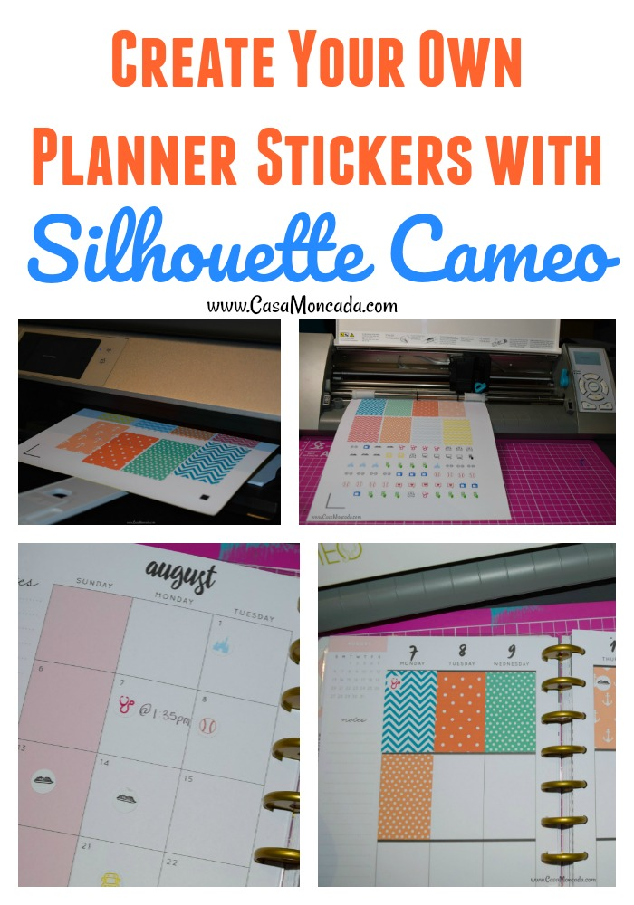 Create your own planner stickers with Silhouette Cameo