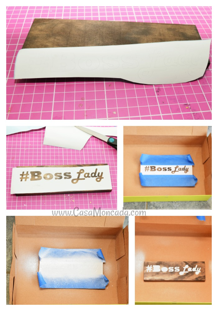 Easy wood Boss Lady sign step by step