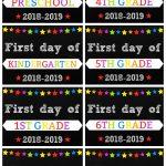 Free printable first day of school photo signs