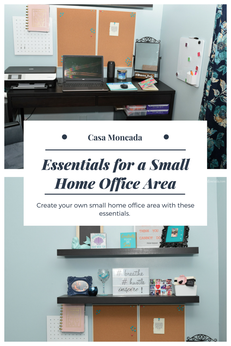 Home essentials for a small home office