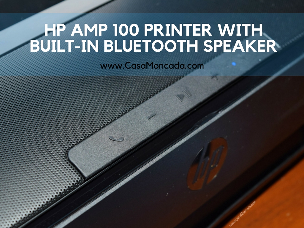 HP AMP 100 Printer with built-in Bluetooth speaker