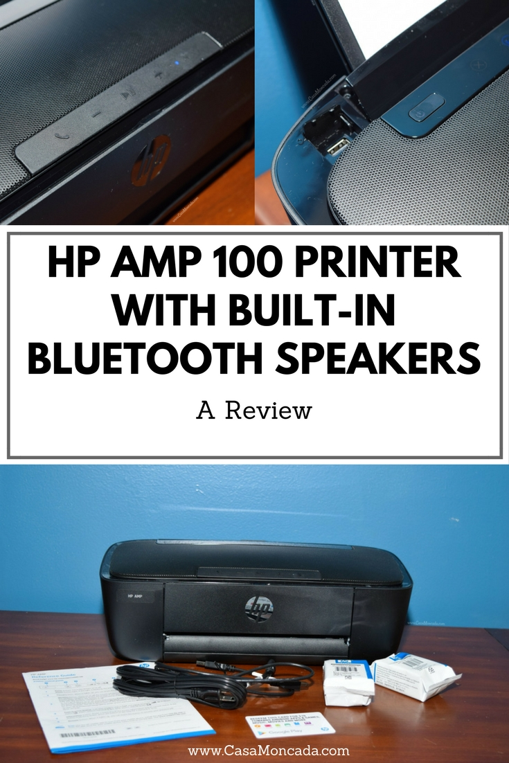 HP AMP 100 printer with built-in bluetooth