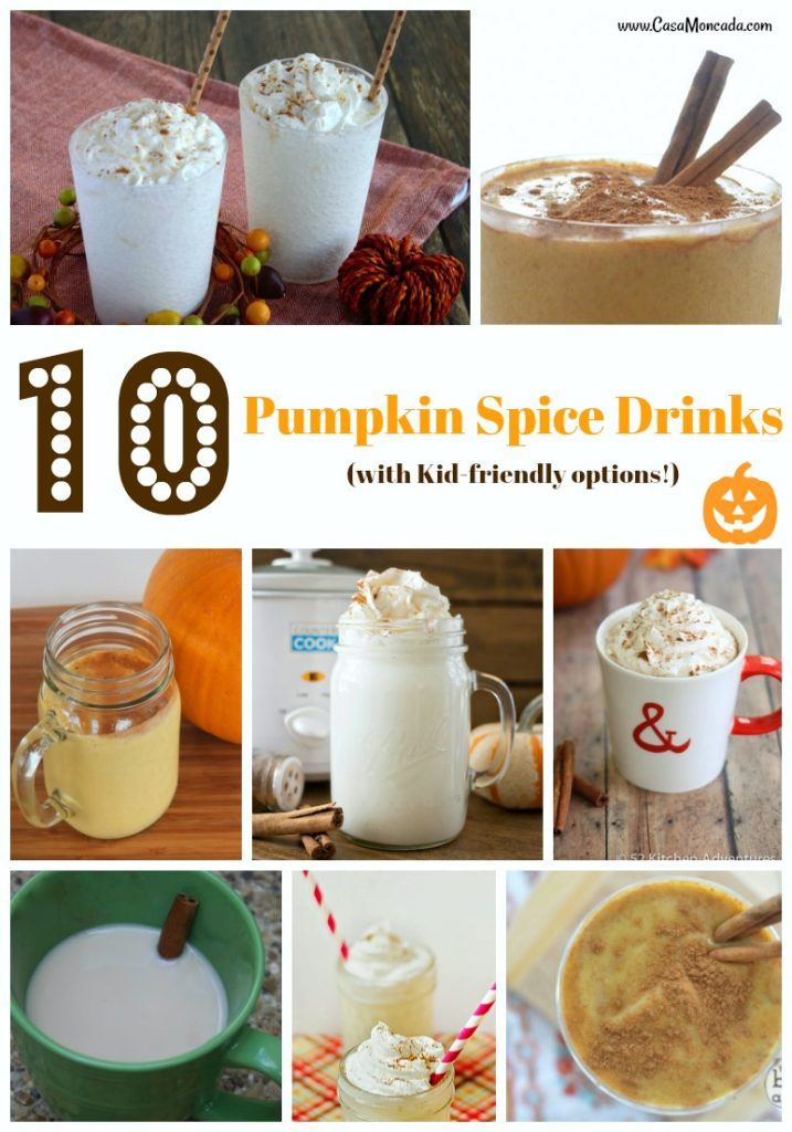 10 Pumpkin Spice Drinks with kid friendly options