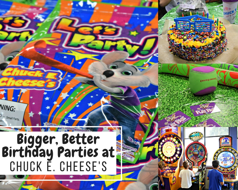 Bigger, better birthday parties at Chuck E. Cheese's