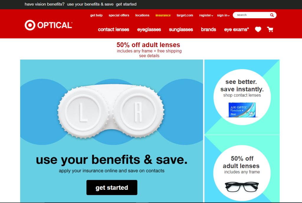 Target Optical website