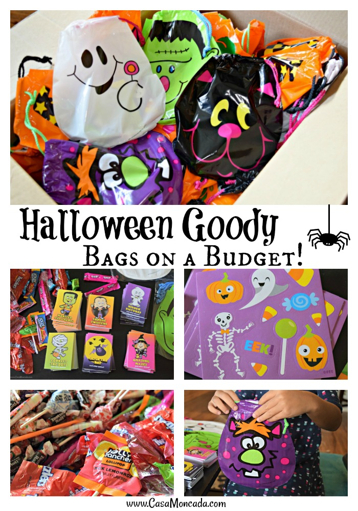 Halloween Goody Bags on a budget from Oriental Trading