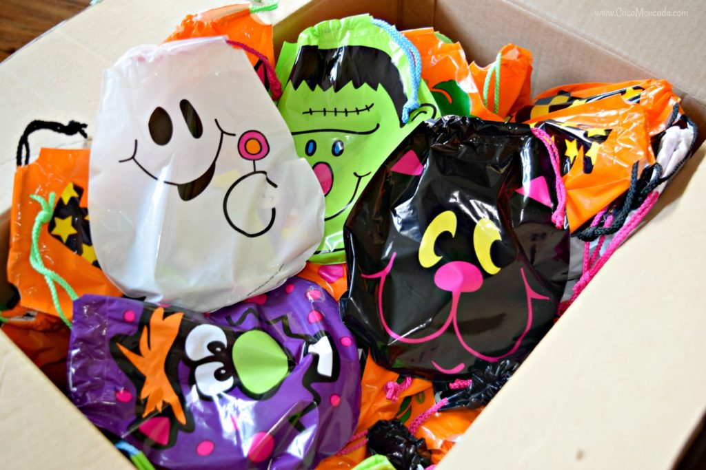 Oriental Trading goody bags for Halloween