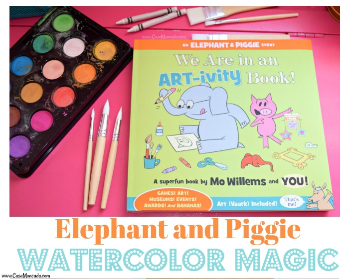elephant and piggie watercolor art-ivity