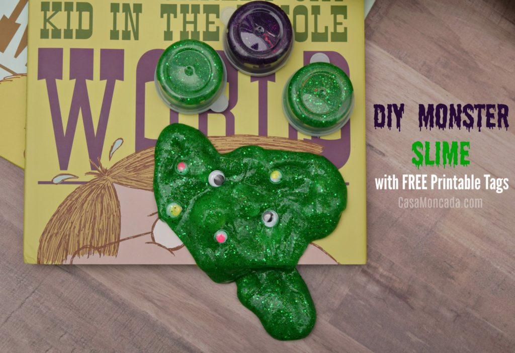 DIY Monster Slime with free printable tags