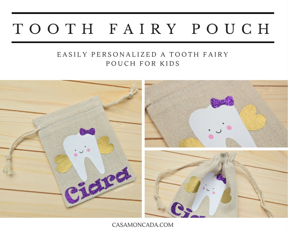 personalized Tooth Fairy Pouch