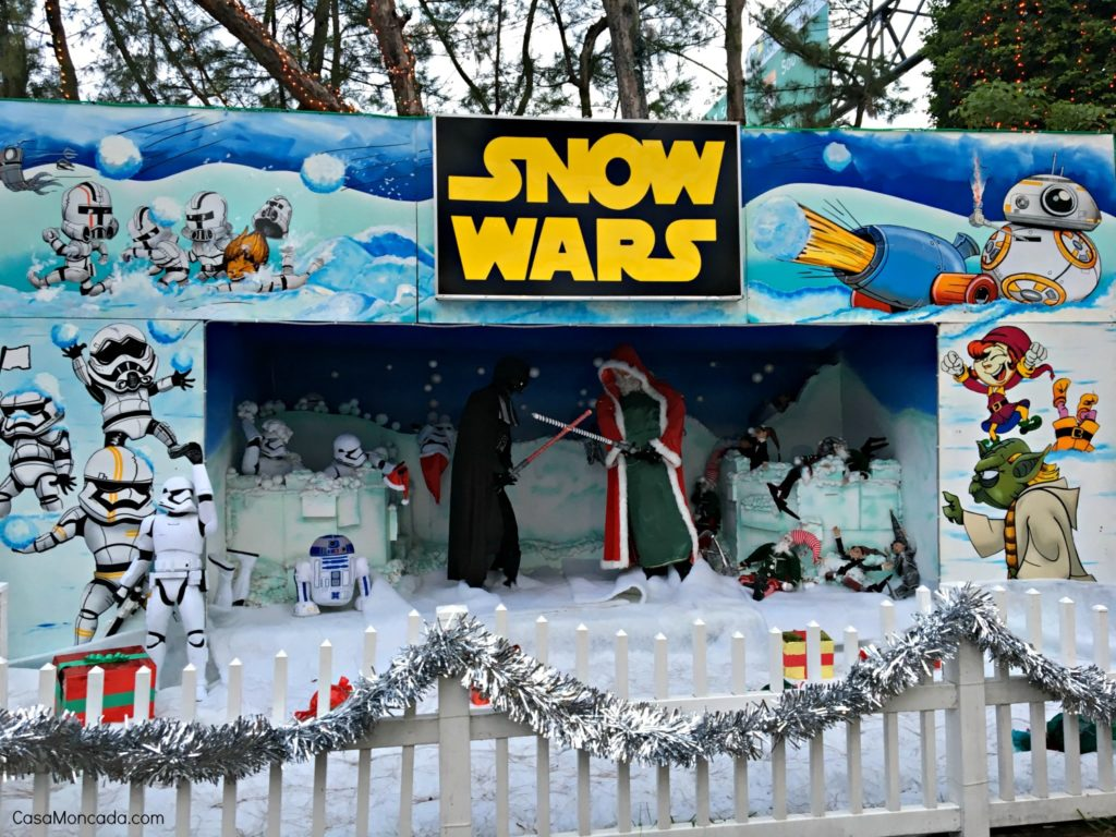 snow wars at santa's enchanted forest