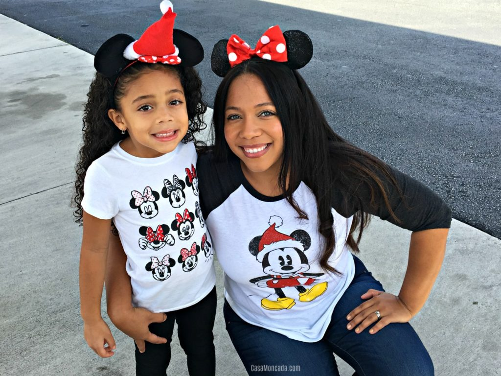 Mommy and daughter with mickey