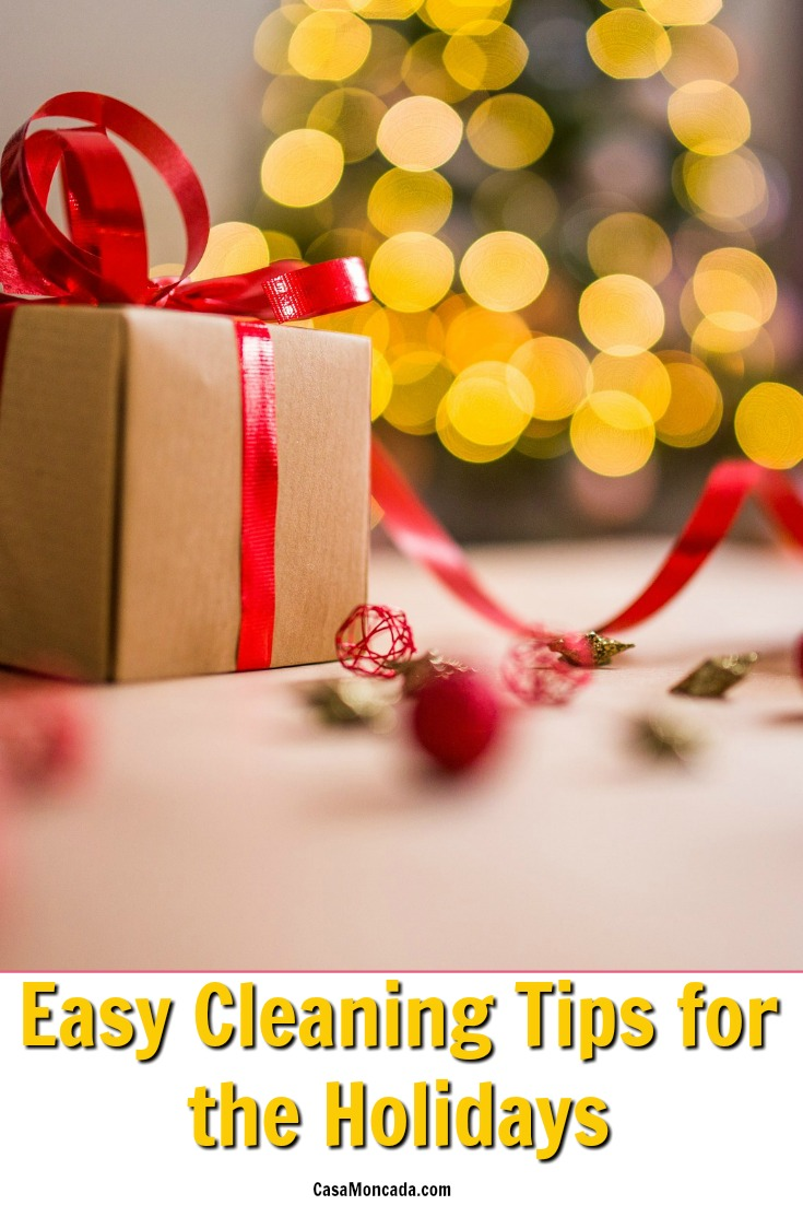 easy cleaning tips for the holidays