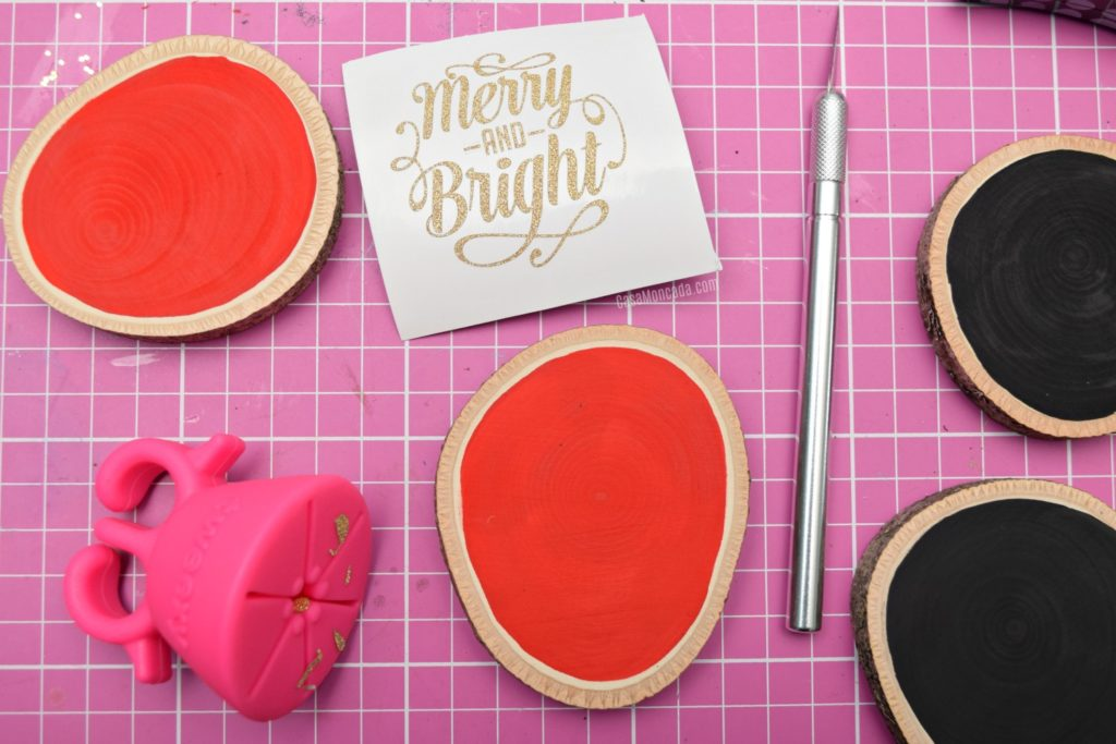 DIY wood slice ornament