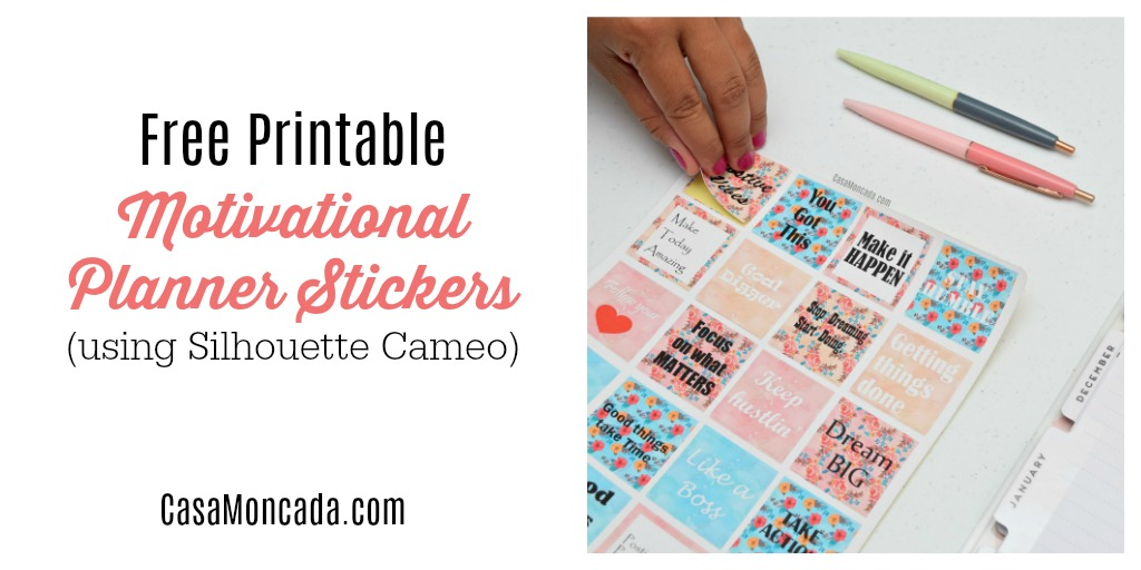 DIY motivational planner stickers
