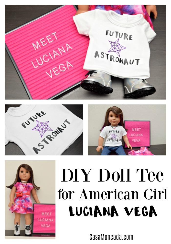 DIY doll shirt for Luciana Vega