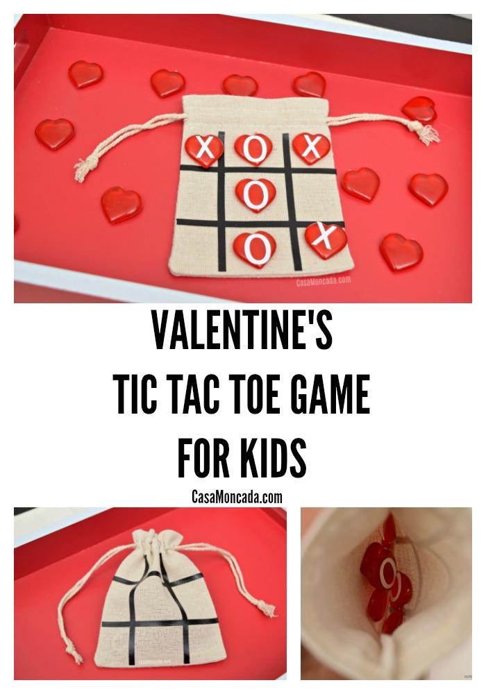 DIY valentine's tic tac toe game for kids