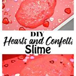 DIY hearts and confetti slime for kids