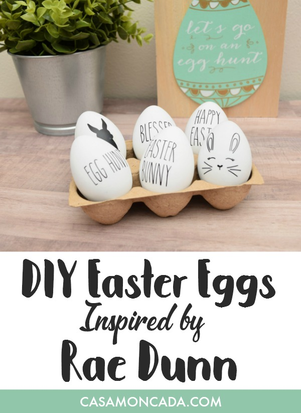 Easter eggs inspired by Rae Dunn