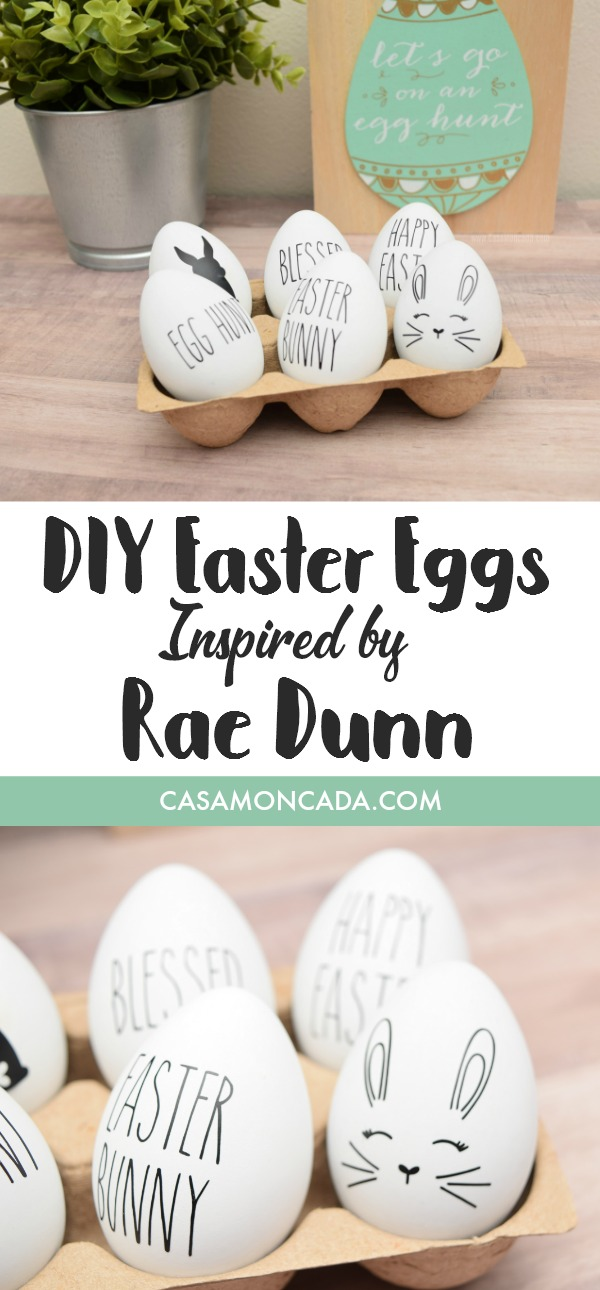 DIY Easter Eggs inspired by Rae Dunn
