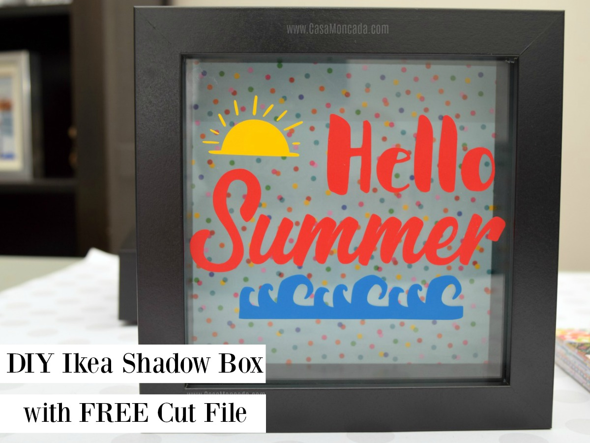 DIY Ikea Shadow Box with free cut file with vinyl