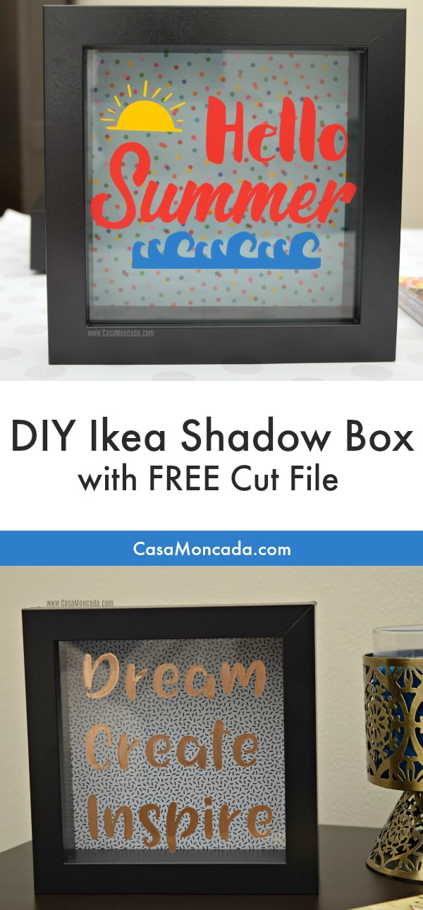 DIY ikea shadow box frame with free cut file