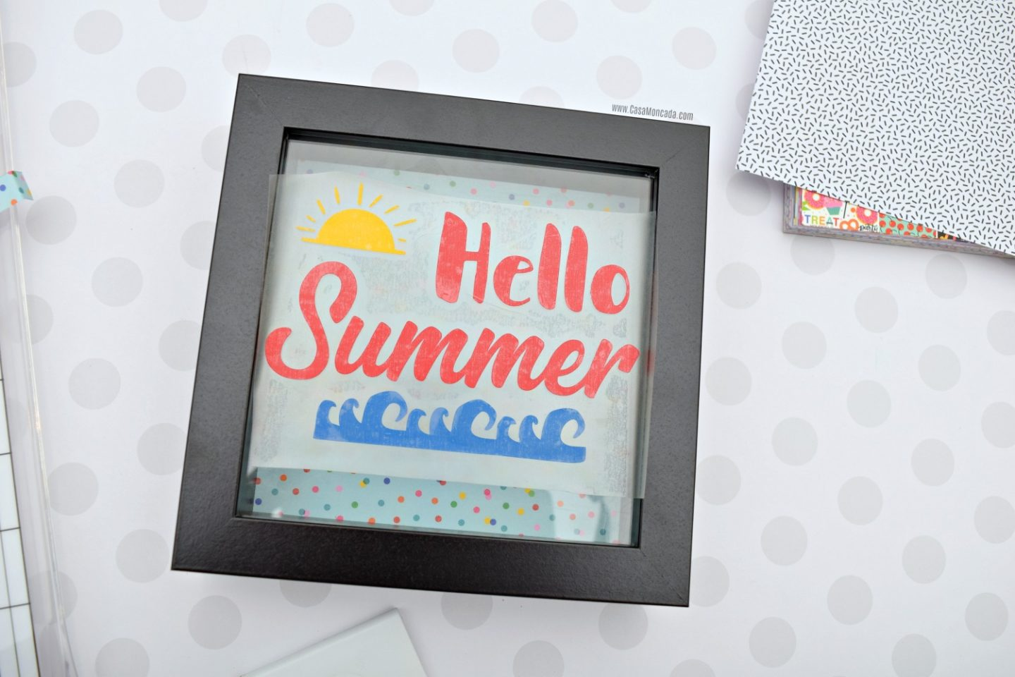 DIY shadow box for summer