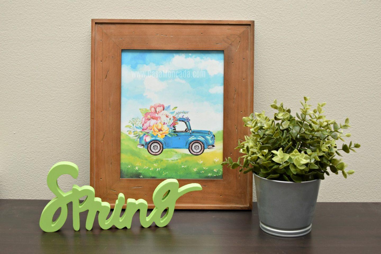 Free Spring Watercolor printable