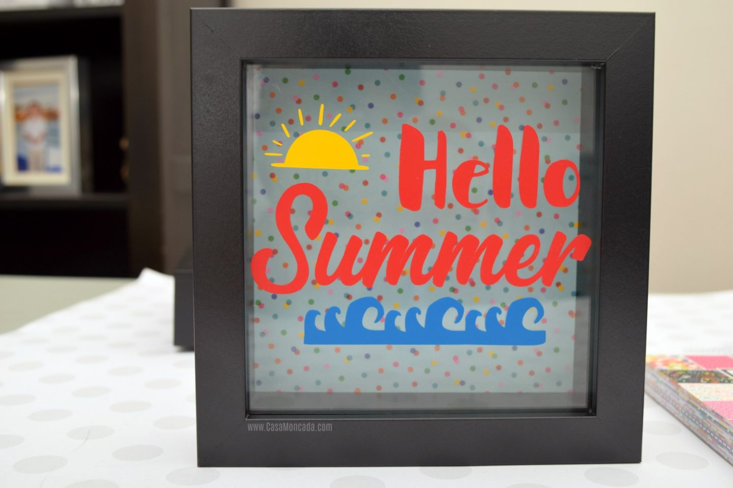 Hello summer shadow box