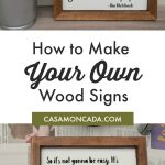 How to make your own wood signs with Silhouette cameo