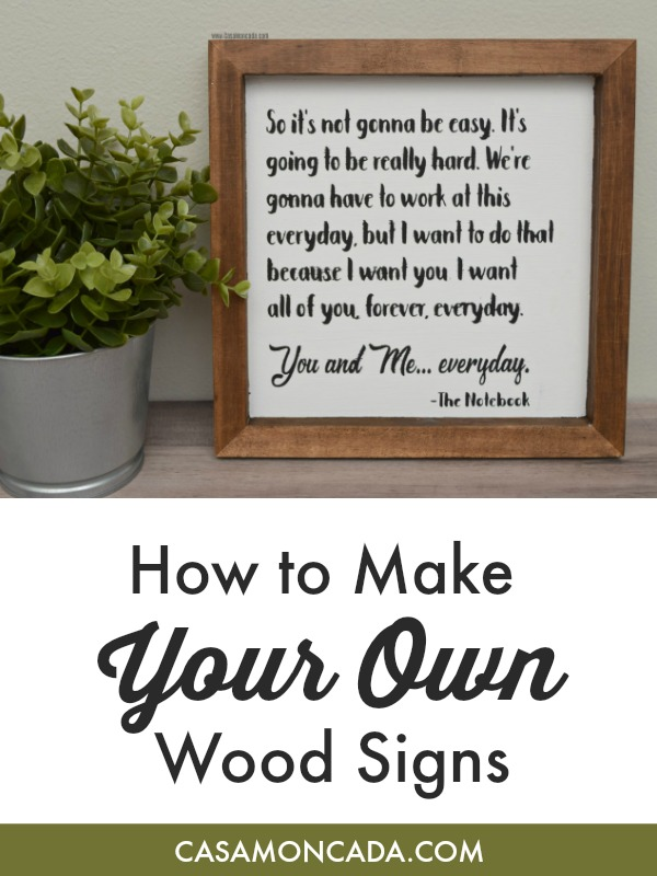 How to make your own wood signs with stencil material