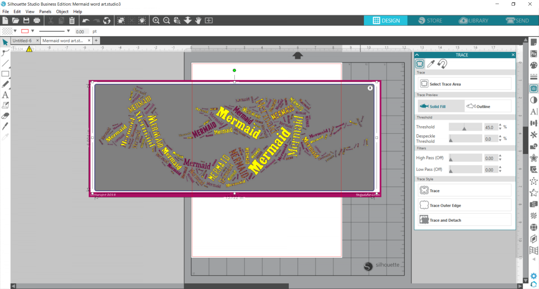 Silhouette Studio trace feature