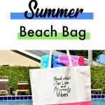 DIY painted summer beach tote using silhouette cameo